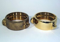 Brass hose fitting hardware finishing and polishing