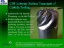 CBF - Carbide tool surface treatment