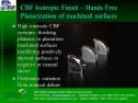 CBF planarization of machined surfaces