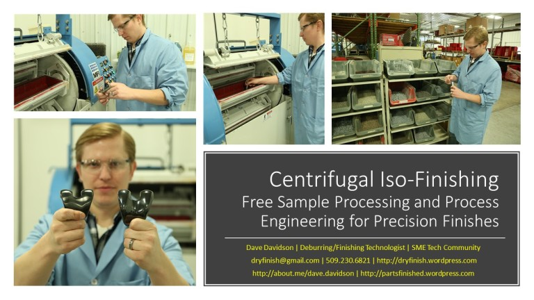 Centrifugal Iso-Finishing Sample Processing