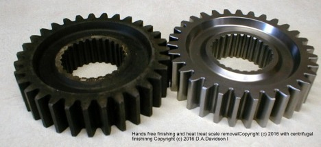 Gears heat treat removal