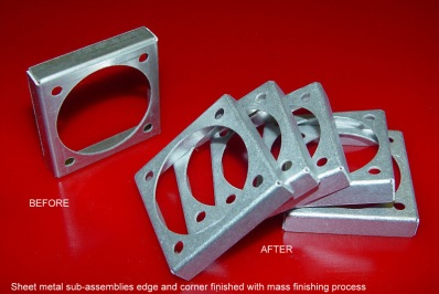 SHEET METAL COMPONENTS MASS FINISHED