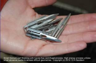 small titanium parts finishing