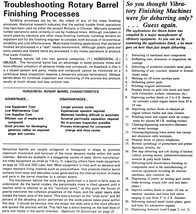 Mass Finishing Chart 2